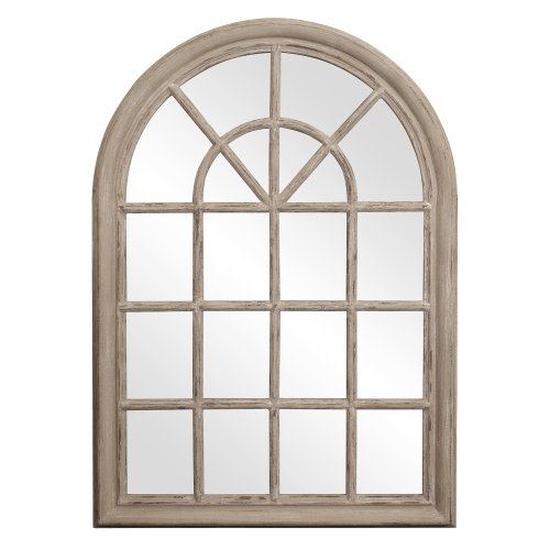Howard Elliott 56017 Fenetre Windowpane Style Mirror, 29 x 41-Inch, Distressed Taupe Lacquer by Howard Elliott Collection