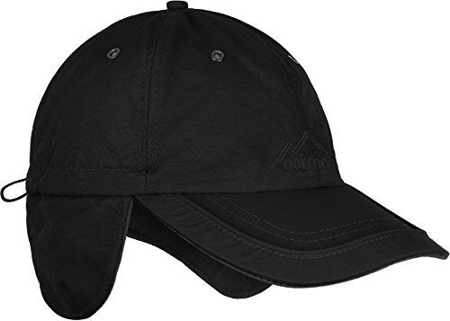 Wintermütze Cap verstellbar mit Ohrenschutz und Fleece-Innenfutter Farbe Black