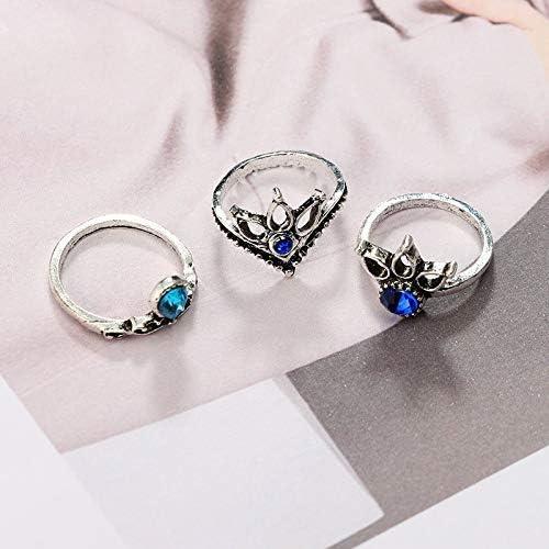 Ogquaton Anneau Creux Bijoux pour Les Femmes Joint Knuckle Ring Set plaqu/é Argent 13 PCS Durable et utile