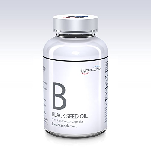 Nutracode Black Cumin Seed Oil 500 mg 100 Liquid Vegan Capsules, Powerful Immune System Booster and Antioxidant (Cold-Pressed, Non-GMO) by Nutracode