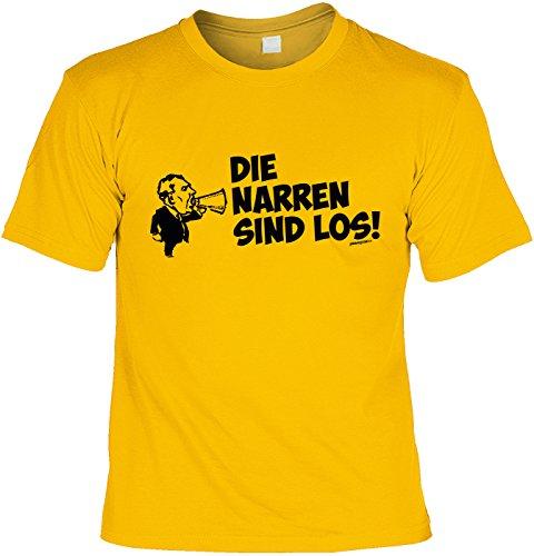 T-Shirt - Faschings-Shirt Die Narren Sind Los - das besondere Shirt mit coolem Print als tolles Outfit oder ideales Geschenk zum Karneval / Fasching