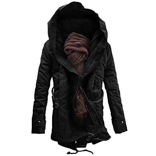Laine Hommes Capuche Outwear Polaire Épais Manteau À Noir Verter Pour Veste En Chaude F8xwBqnnT