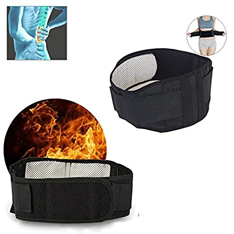 Forma lumbar Hombre Mujer ZEERKEER Cinturón ajustable con autocalentamiento para masaje en la zona lumbar Alivio con terapia magnética para el dolor ...