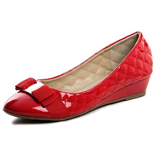 topschuhe24 - Bailarinas para mujer Rojo - rojo