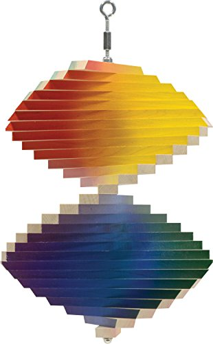 Rainbow Wood Wind Spinner - Made in USA -
