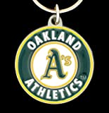 MLB Oakland Athletics Team Key Chain, Metal, One Size