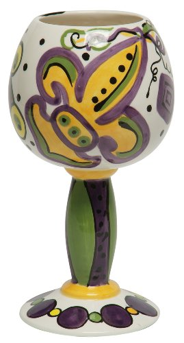 Caffco International Dana Wittmann Ceramic Goblet, Mardi ...