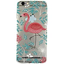 Gina Alexander iPhone 6 Transparent Case (Flamingo and Leaves)