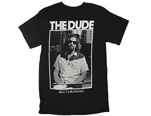Ripple Junction Big Lebowski Dude Photo Adult T-Shirt Small Black -