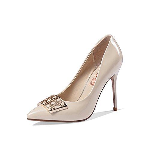 Latérales Chaussures à pour 10 Talons Nude Couleur à DE 5 Chaussures Talons Avec Boucles Hauts cm Wysm Fins Femmes fv5dXwqv