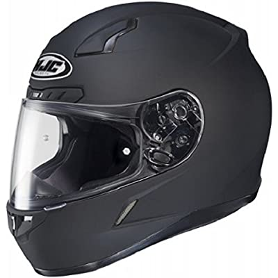 HJC CL-17 Full-Face Motorcycle Helmet (Matte Black, X-Large): Automotive