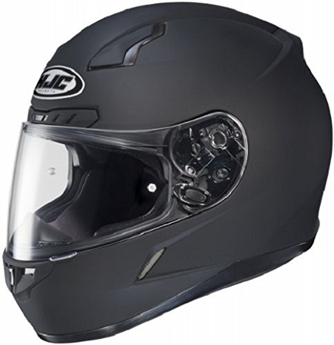 (HJC CL-17 Full-Face Motorcycle Helmet (Matte Black, Medium))