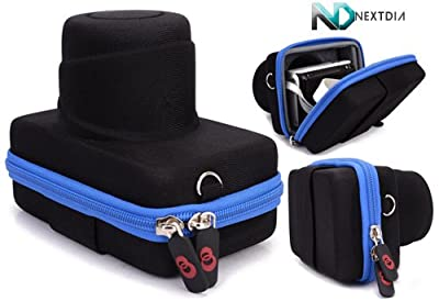"""Universal Mirrorless System Camera Sheath Case for [Samsung NX300 (body only)] with a Complimentary NextDia â""""¢ Velcro Cable Strap (Various colors available)"""