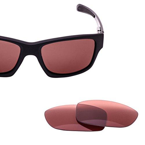 LenzFlip Replacement Lenses for Oakley JUPITER CARBON Sunglass Frame - Rose Pink - Polarized Scratched Lenses Oakley