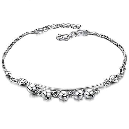 KnSam Anklets Women Girls Ankle Chains Bracelets Silver Copper Bells Ankle Bracelet Custom ()