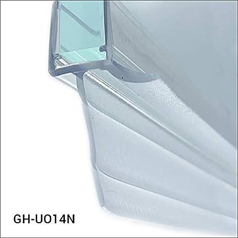 8 mm Longueur 100 cm,en silicone de la plus haute qualit/é Joint d/étanch/éit/é pour verre 6 mm GH-UO14+ Glass House Joint d/étanch/éit/é pour cabine de douche