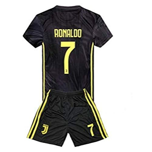bbef0788d454a Juventus Ronaldo 7 Uniform Soccer Jersey and Short for Kids Season  2018-2019 Best Soccer