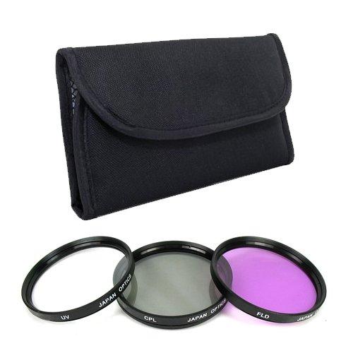 [DM Optics 55mm Multi-Coated 3 Piece Filter Kit (UV CPL FLD) For The Nikon 1 NIKKOR 10-100mm f/4.5-5.6 VR Lens With Use Any Of The Nikon 1 V1, Nikon 1 J1 Digital SLR Cameras] (Resolution Multi Coated 30mm Filter)