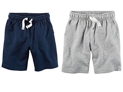 (Carters Toddler Boys 2 Pack Pull-On French Terry Soft Shorts, 4T)