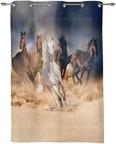 Big buy store Running Horse Darkening Blackout Window Curtains 96 inch Length Grommet Blocking Treatments Drapes Thermal Insulated Panel