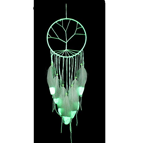 DOFE Handmade Dream Catcher, Dream Catchers with Lace and tassels,Big Dream Catchers for room decoration.Best Gift for Girls. (Fluorescent green) by DOFE