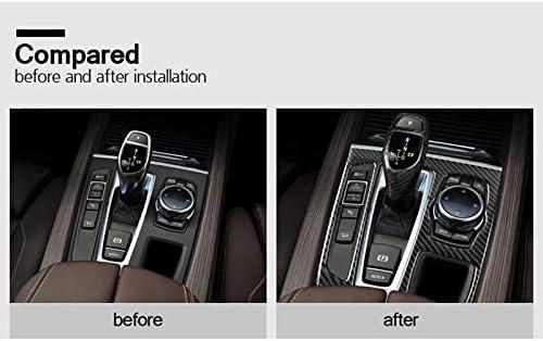 X6 Cikuso Engrenage De Commande Panneau De Changement Garniture en Fibre De Carbone Automobile pour BMW X5 F15 F16 2014-2017