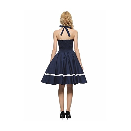 Mojessy Women\'s 1950s Cape Sleeve Vintage Retro Tea Rockabilly Party Dress Small Black