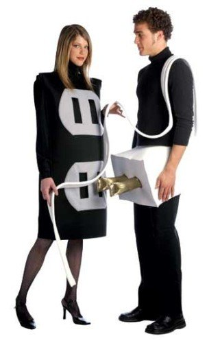 Make Plug Socket Halloween Costume (Plug and Socket Set Costume Set - One Size - Chest Size)