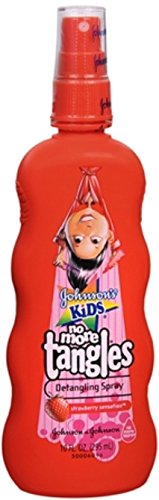 JOHNSON'S Kids No More Tangles Detangling Spray Strawberry Sensation 10 oz (Pack of 5) by Johnson's