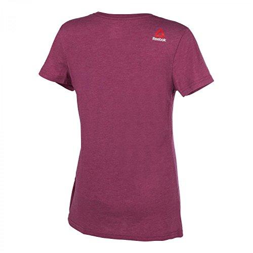 Reebok - Camiseta - para mujer marrã³n,morado