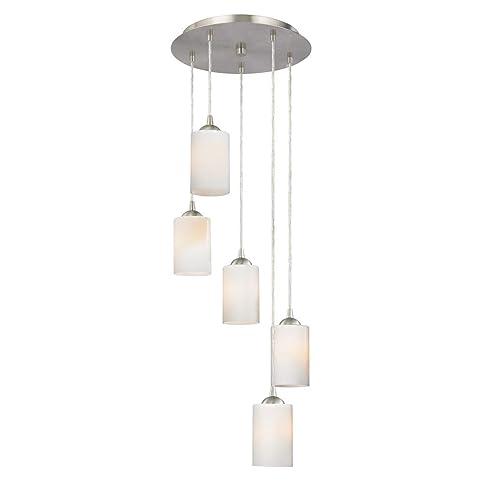 Modern multi light pendant light with white glass and 5 lights modern multi light pendant light with white glass and 5 lights aloadofball Images
