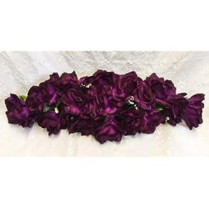 Kampoojoo – Purple Rose Swag Silk Wedding Flowers Chuppah Arch Gazebo Centerpiece