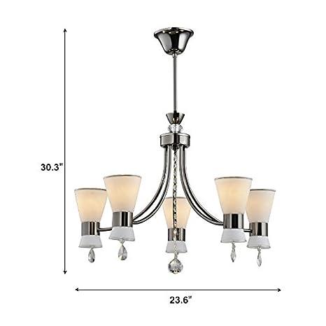 Amazon.com: Negro Hierro Moderno – Lámpara de techo con ...