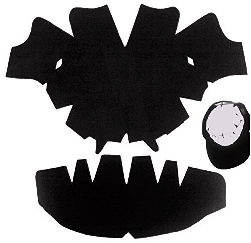 3 Pack. Black-baseball Cap Large Dome Panel Shaper and Hat Crown Inserts Combo-flexible-high Quality-long Lasting Hat Liner 100% Mbg. 1 Free with Purchase of a 3 Pk.