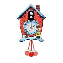 17 Battery Operated Musical Peanuts Christmas Snoopy Cuckoo Wall Clock