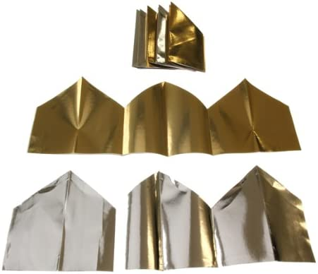 12 Silver Foil Cracker Hats Christmas Party