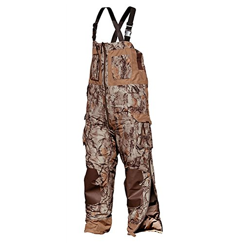 Insulated Waterfowl Bibs - Natural Gear Camouflage Duck Hunting Bib Overall for Men and Women, Insulated for Cold Weather Waterfowl Hunting, Dri Stalk Rigid Shell Material, Ultimate Duck Bib (Large)