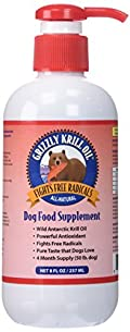 Grizzly Krill Oil is rich in the Natural Antioxidant Astaxanthin, Over 8 times more than Krill Oil for Humans. This allows your dog's immune system to fight against Free Radicals, which are harmful molecules that may cause harm in your dog's ...