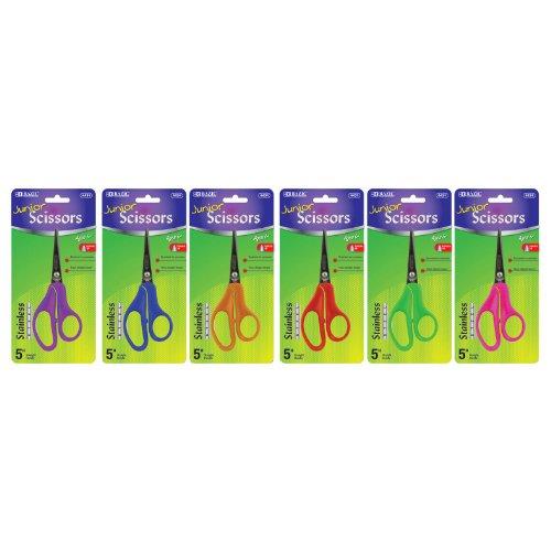 BAZIC Pointed Tip School Scissors 5'' 144Pcs by Bazic