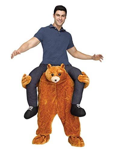Fun World Men's Carry Me Teddy Bear Adult Cstm, Multi, Standard (Mens Bear Costume Teddy)