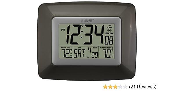 La Crosse Technology Atomic Digital Wall Clock Weather Station