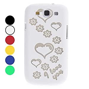 Heart Pattern Noctilucent Hard Case for Samsung Galaxy S3 I9300 (Assorted Colors) --- COLOR:Green