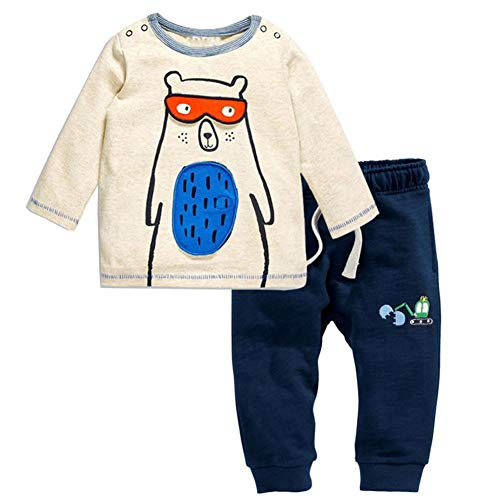 Frogwill Toddler Boys Bear and Excavator Clothing Set 3t