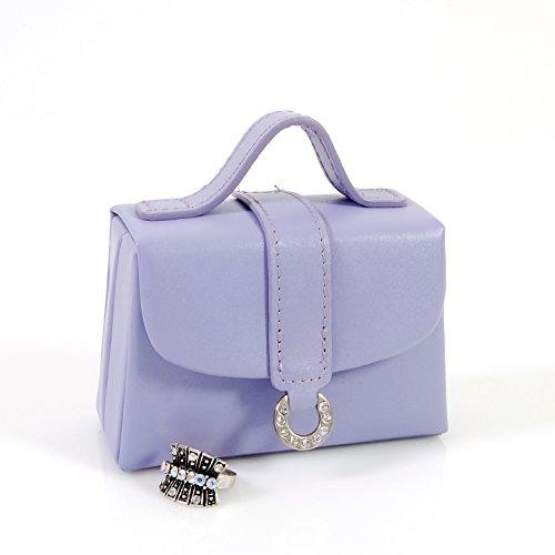 Budd Leather Petite Handbag Jewel Box, Purple