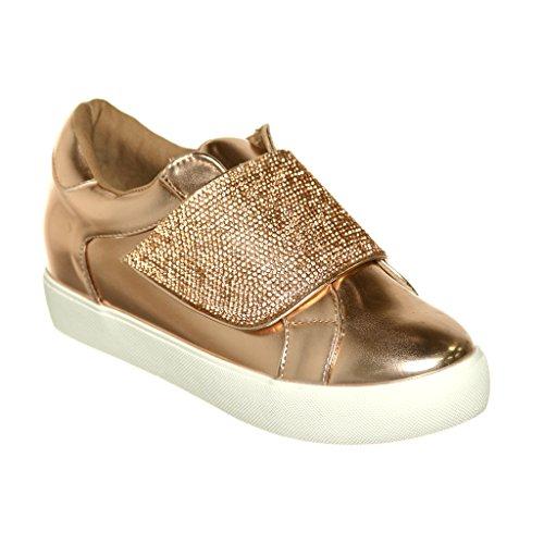 Qualsiasi Nuovo Arrivo !! Womens Graphic Designer Stringate / Slip-on Fashion Sneaker Rosegoldt8
