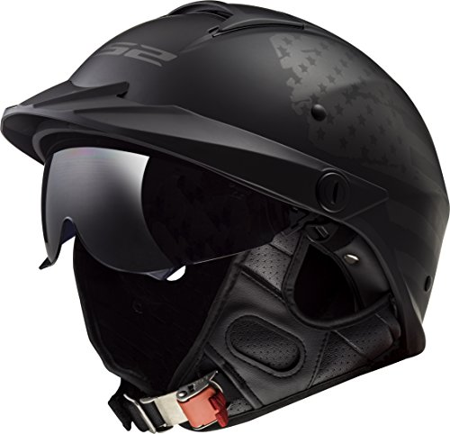 LS2 Helmets Unisex-Adult Half-Size Style Helmet with Sun Shield (1812