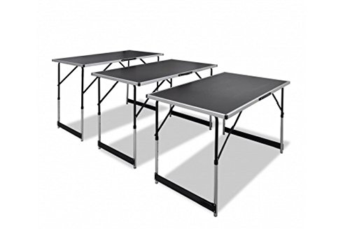 Strong & Durable Foldable Pasting Table Comes Complete With 3 Height-Adjustable Tables - Ideal For A Wide Range Of Uses - Frame Made Of Strong And Lightweight Aluminum By eCommerce Excellence Modern Tables