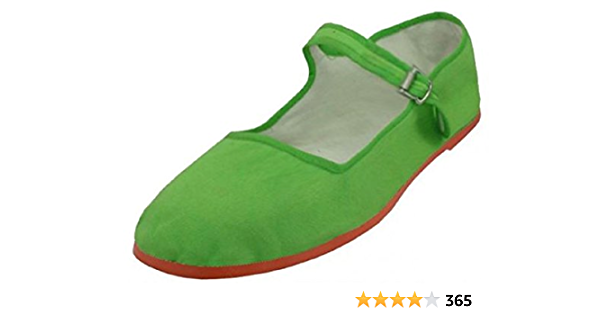 Easy USA Womens Cotton Mary Jane Shoes Ballerina Ballet Flats Shoes US, Black M 7 B
