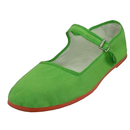 nice Womens Cotton Mary Jane Shoes Ballerina Ballet Flats Shoes 5 Green 114 for sale