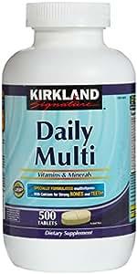 Kirkland Signature Daily Multi Vitamins & Minerals Tablets, 500-Count Bottle
